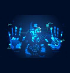 interface man vector image