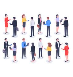 Isometric business people businessman team vector