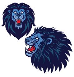 lion head logo set collection design vector image