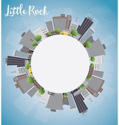 Little Rock Skyline vector