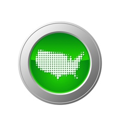 map of usa button vector image