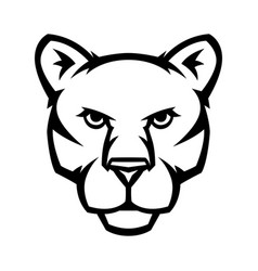Mascot stylized cougar head vector