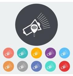 Megaphone single icon vector image