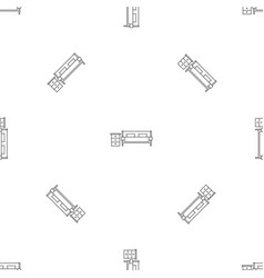 modern sofa pattern seamless vector image