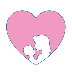 mother holding baby icon vector image