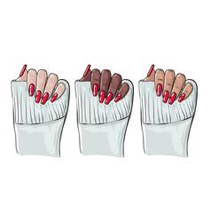 Nails manicure manicure woman black vector