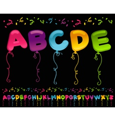 Party Balloons Alphabet vector image
