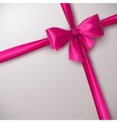 Pink Bow And Ribbon vector