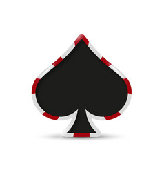 Playing card spade suit flat icon vector