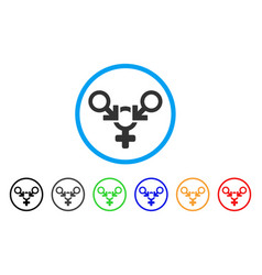 polyandry rounded icon vector image