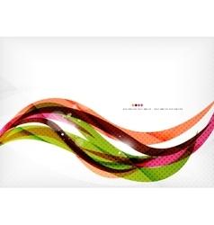 Rainbow orange red brown line design vector