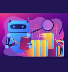 Robotic process automation concept vector