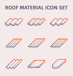 Roofing material icon vector