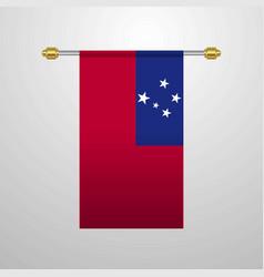 Samoa hanging flag vector