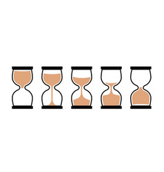 sand clock time icon hour glass sand watch timer vector image