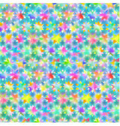 seamless pattern with neon stars vector image