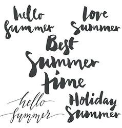 Set labels summer vector image