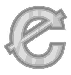 Sign of money ghanaian cedi icon vector image