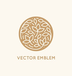 simple and elegant logo design template in trendy vector image