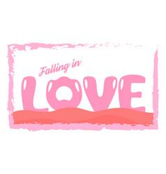 slogan design in love concept for advertisement t vector image