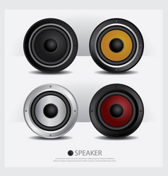 Speakers isolated vector