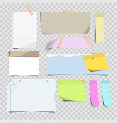 Stickers and sticky memo notes corners vector