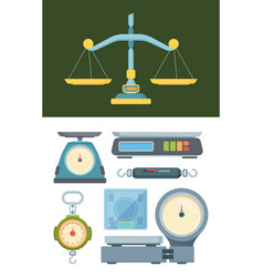 store weigher set accurate electronic scales vector image