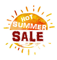 Summer sale banner bright template banner vector