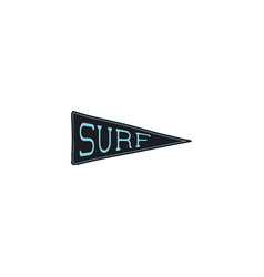 Surfing pennant icon design simple surf pendant vector