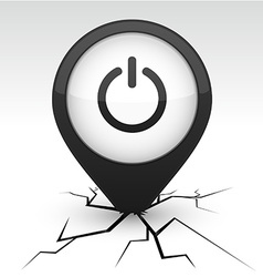 Switch black icon in crack vector