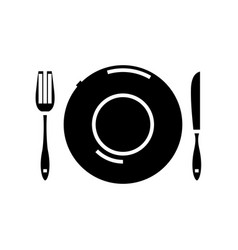 Table ware black icon concept vector