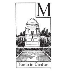 Tomb of american president mckinley vintage vector
