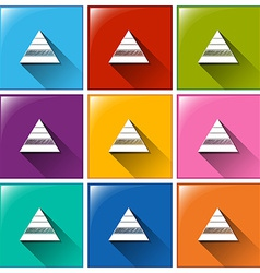 Triangle icons vector