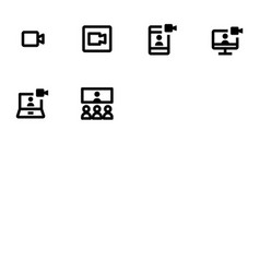 Video meeting icons vector