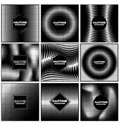 vintage halftone style background design template vector image