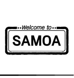 welcome to samoa design vector image