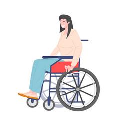 Woman in a wheelchair vector