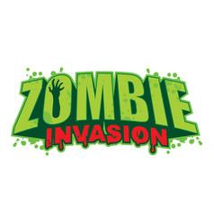 zombie invasion logo vector image