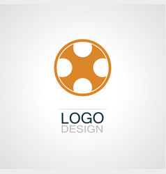 circle letter x logo vector image vector image