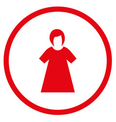 lady figure rounded icon vector image