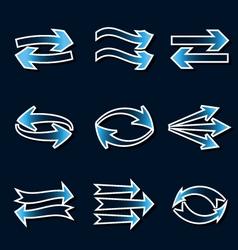 Blue arrows vector image vector image