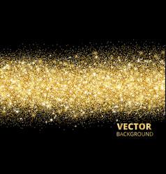 sparkling glitter border on black festive vector image vector image