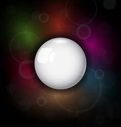 speech bubble on dark background - vector image