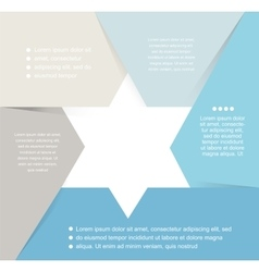 David star design template and infographics vector