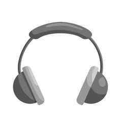 Headphones icon black monochrome style vector image vector image