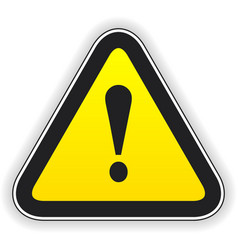 Attention sign vector image