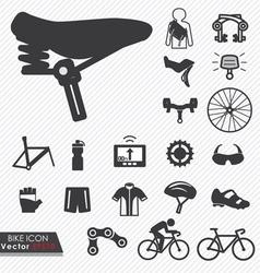 Bike icon set vector image