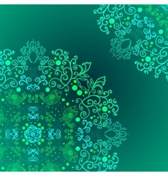Emerald floral background ethnic ornament vector image vector image