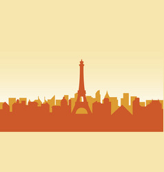 france silhouette architecture buildings town city vector image