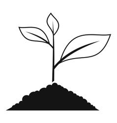 Growing plant icon simple style vector image